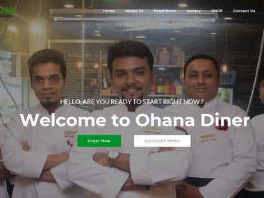 Ohana Dinner Restaurant Website