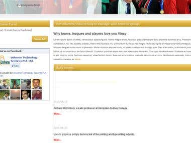 Football game website