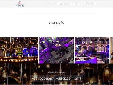 Private Events Venue Website