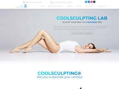 Webdesign with a working booking for Coolsculpting website