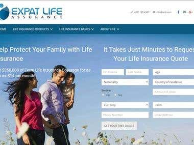 Expat Life Insurance website