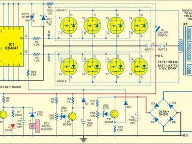 Sine wave inverter circuit that produces 50Hz quasi-sine