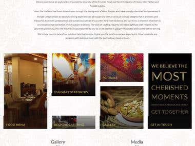 Restaurant Website(www.panjabgrill.in)