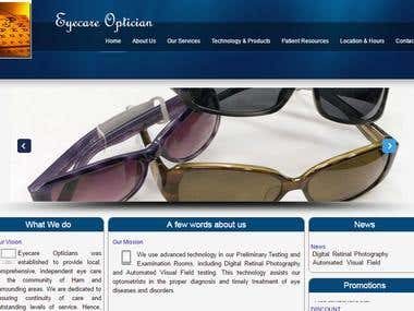 Web-portal for EyeCare & Optician sector
