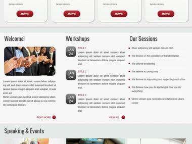 Single-page Corporate Website in WordPress