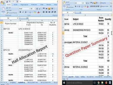 Print /Book report generation from EXCEL