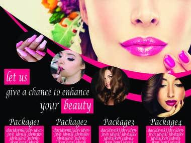 flyer design of beauty salon