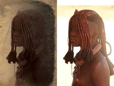 Himba Girl photo edit