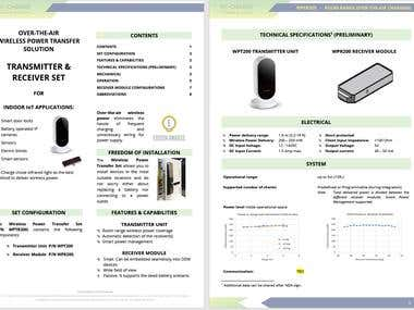 Product Datasheet/Description