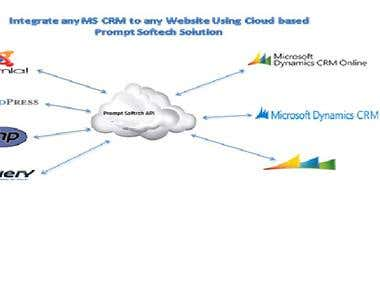 Integrate any MS CRM to any website using cloud based solu