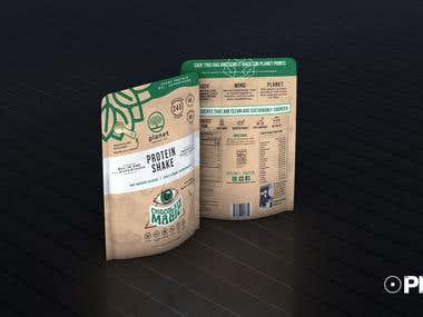 3D Packaging - Protein Bags