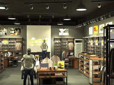 Retail interior design,