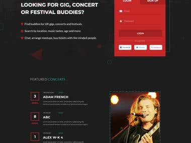 Concert Buddies Landing Page