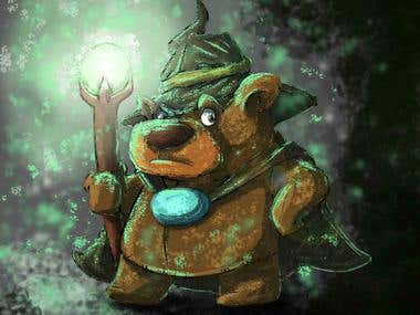 bear in the dark