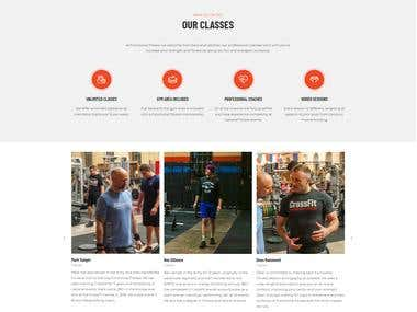 Fitness WordPress GYM website UK base
