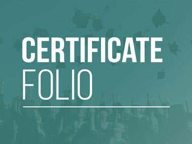 Certificate Designs
