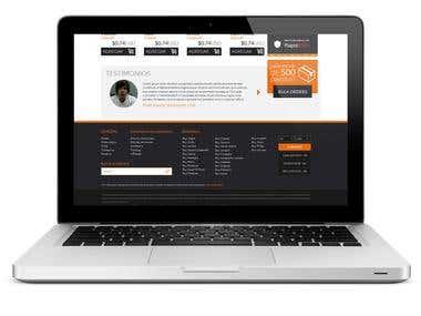 Online Store Design Mock up