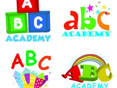 abc academy logo design