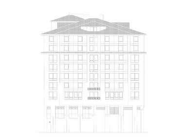 Facade survey drawing Rolove