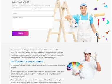 Wordpress Site creation for Vera Painting