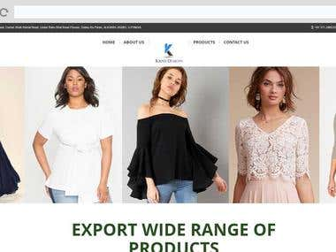 Ecommerce Website for Clothing and Fashion