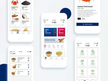 Indus basket Grocery App UI Design