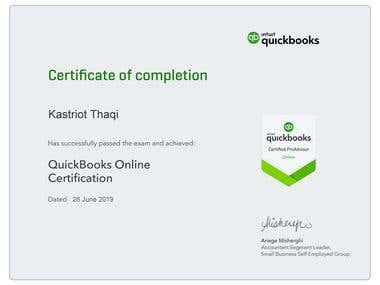 ProAdvisor - Quickbooks Online