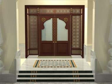 Main Door Design for Governor House, Jaipur, India