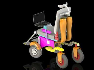 3D modelling of Digital airjet-powered wheel chair