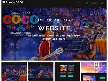 High School Play Website