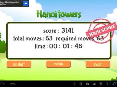 Hanoi towers - 2D Game Android