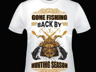 fishing and hunting t shirt