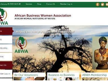 Website Development (African Business Women Association)