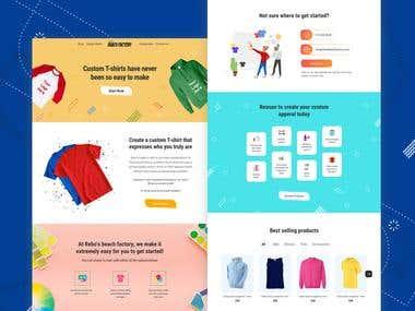 Beach Factory web store layout