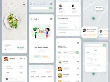 Online food app delivery.