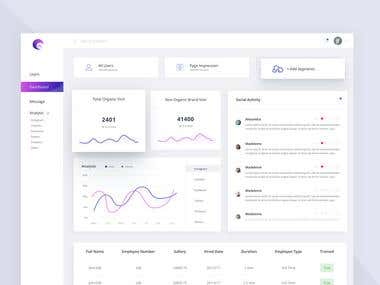 Multiple Dashboard designs.