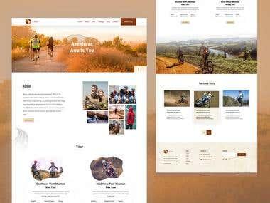 Adventure website layout