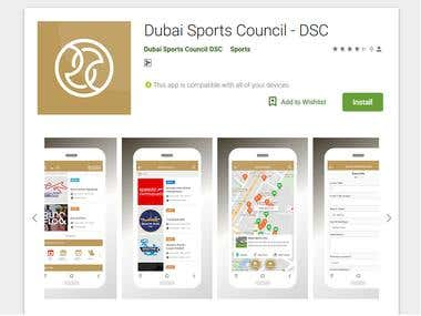 Android APP - Cover art Dubai Sports Council - DSC