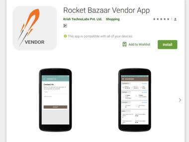 Android APP - Rocket Bazaar Vendor App