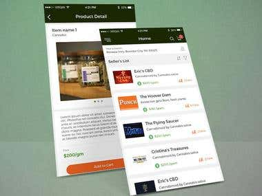 Mobile App Screen Designs