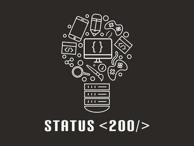 Logo for my Software company. STATUS 200.