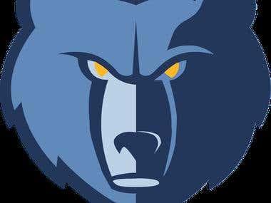 memphis grizzles logo recreation
