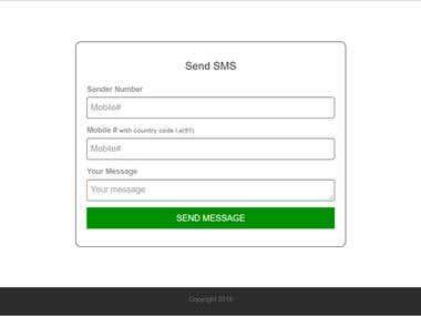 Geomapupdate SMS Portal