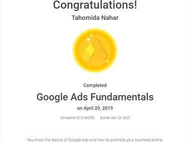 Google Ads Fundamentals Certificate