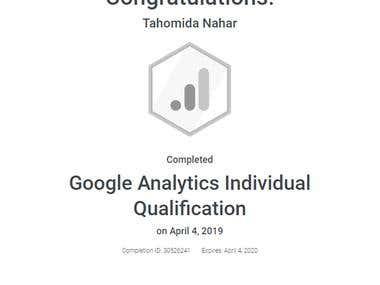 Google Analytics Individual Qualification Certificate