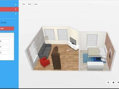 2D Floor Designer and 3D Interior Designer