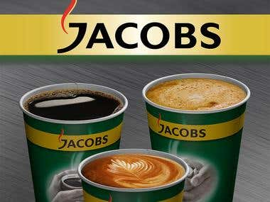 JACOBS - Print Design for posters on Coffee Machines