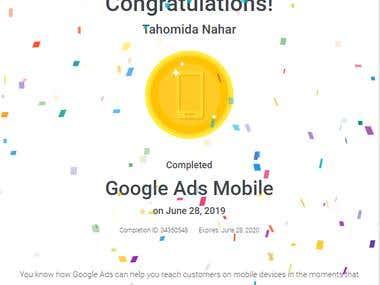 Google Ads Mobile Certificate