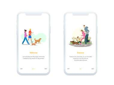 Play dogs onboarding screens