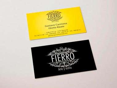 Business Card Design Fierro Arte